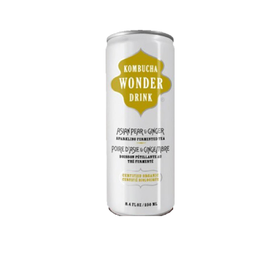 Wonder Drink Kombucha | Pear & Ginger