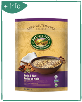 ORGANIC NATURE'S PATH FRUIT AND NUT GRANOLA GLUTEN FREE