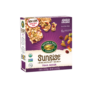ORGANIC NATURE'S PATH TRAIL MIXER GRANOLA BARS GLUTEN FREE